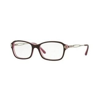 Sferoflex Women's SF1557B C585 52 Top Plum On Opal Pink Square Plastic Eyeglasses