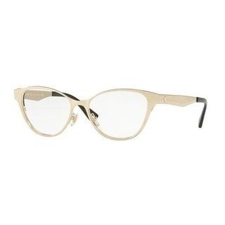 Versace Women's VE1245 1252 53 Pale Gold/Black Cateye Metal Eyeglasses