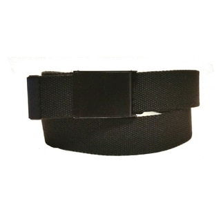 Canvas Web Belt with Flip Buckle