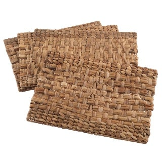 Woven Design Water Hyacinth Placemat Set