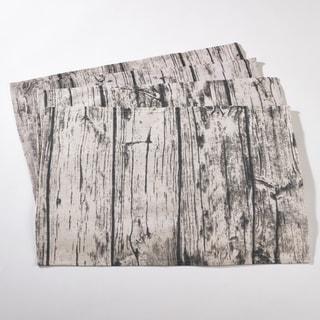 Wood Grain Design Cotton Placemat Set