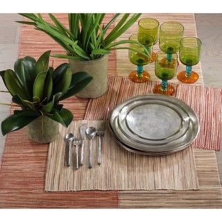Shimmering Woven Nubby Water Hyacinth Placemat Set
