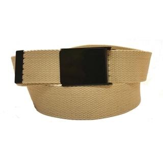 Canvas Web Belt with Flip Buckle