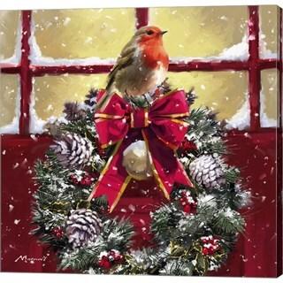 The Macneil Studio 'Robin On Wreath' Canvas Art