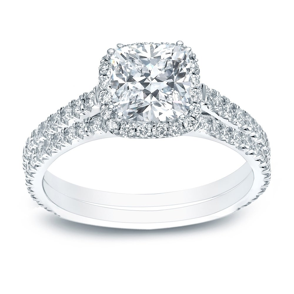 FB Jewels 14K White Gold Ring Mens Cubic Zirconia CZ Anniversary Wedding Band//Trio Set