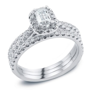 6695b322f8b33b Buy Emerald, 1 to 1.5 Carats Engagement Rings Online at Overstock | Our  Best Wedding