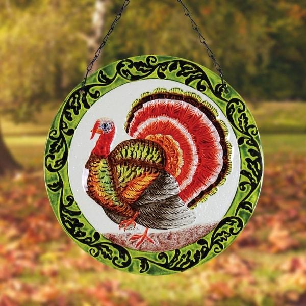 """12"""" Glass Suncatcher - Turkey"""