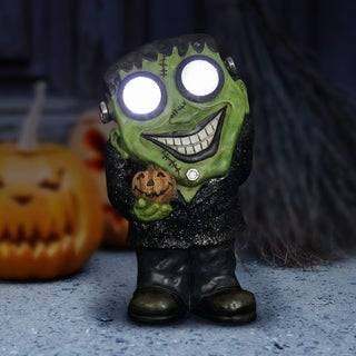 Solar Frankenstein Statue with LED Eyes