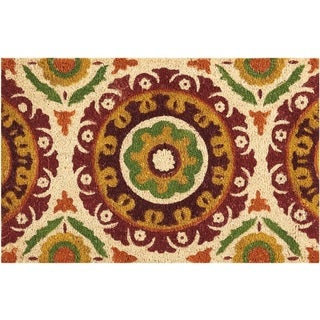 "Waverly Greetings ""Solar Flair"" Rust Doormat by Nourison (2' x 3') - 1'6 x 2'4"