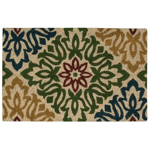 "Waverly Greetings ""Sweet Things"" Green Doormat by Nourison (2' x 3')"