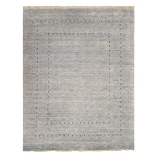 EORC Traditional Solid Grey Wool Handmade Lori Baft Rug (2'6 x 8')