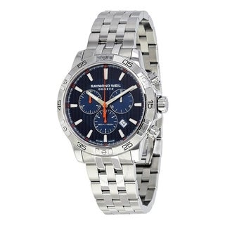 Raymond Weil Men's 8560-ST2-50001 'Tango' Chronograph Stainless Steel Watch - Blue