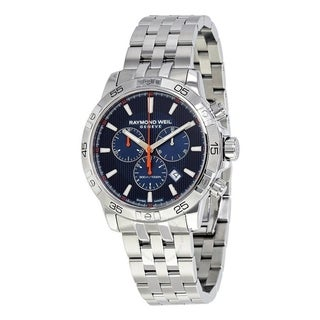 Link to Raymond Weil Men's 8560-ST2-50001 'Tango' Chronograph Stainless Steel Watch - Blue Similar Items in Men's Watches