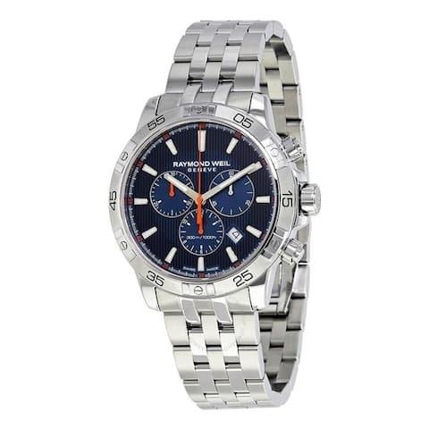 Raymond Weil Men's 8560-ST2-50001 'Tango' Chronograph Stainless Steel Watch - Blue