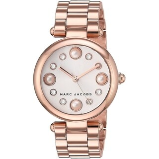 Marc Jacobs Women's MJ3519 'Dotty' Crystal Rose-Tone Stainless Steel Watch - Silver