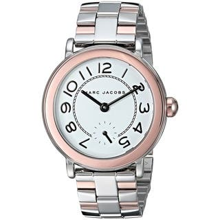 Marc Jacobs Women's MJ3539 'Riley' Two-Tone Stainless Steel Watch - Silver|https://ak1.ostkcdn.com/images/products/17963982/P24140274.jpg?impolicy=medium