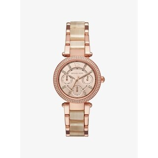 Michael Kors Women's 'Parker' Crystal Pave Chronograph Watch