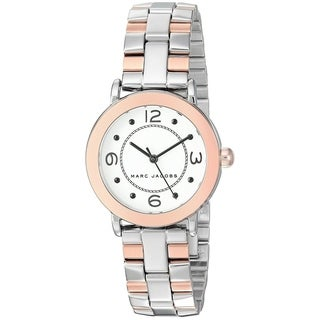 Marc Jacobs Women's MJ3540 'Riley' Two-Tone Stainless Steel Watch - Silver