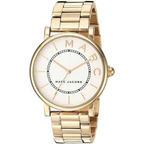 Marc Jacobs Women's 'Roxy' Gold-Tone Stainless Steel Watch - Silver