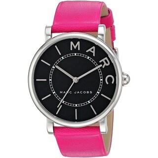 Marc Jacobs Women's MJ1535 'Roxy' Pink Leather Watch - Black