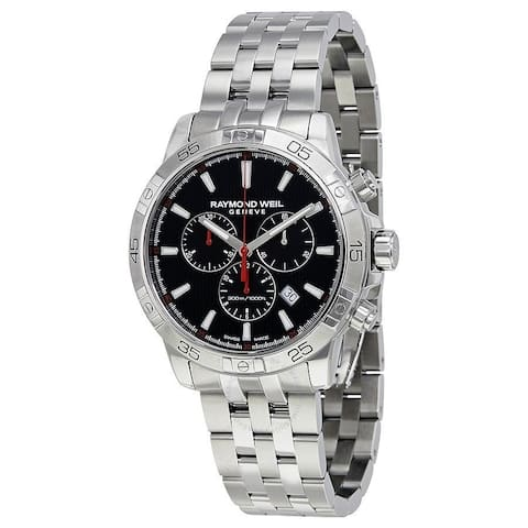 Raymond Weil Men's 8560-ST2-20001 'Tango' Chronograph Stainless Steel Watch - Black
