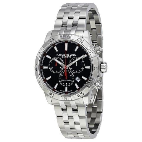 Raymond Weil Men's 8560-ST2-20001 'Tango' Chronograph Stainless Steel Watch - Black
