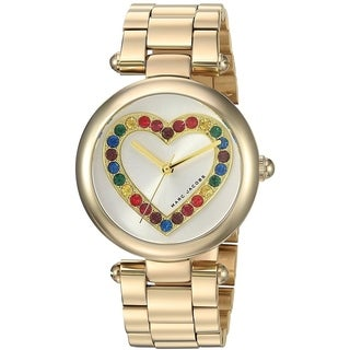 Marc Jacobs Women's MJ3544 'Dotty' Heart Crystal Gold-Tone Stainless Steel Watch - Silver