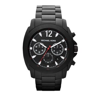Michael Kors Men's MK8282 'Oversized' Chronograph Black Stainless Steel Watch