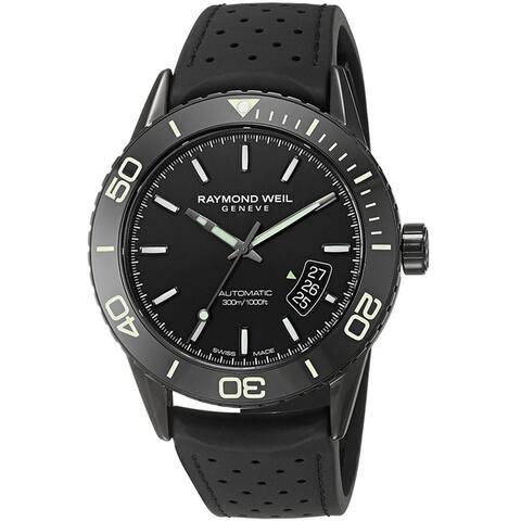 Raymond Weil Men's 2760-SB1-20001 'Freelancer' Automatic Black Rubber Watch