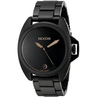Nixon Men's A396-957 'Anthem' Black Stainless Steel Watch