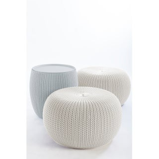 Keter 3-Piece Cozy Urban Knit Indoor Outdoor Set