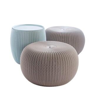 Keter 3-Piece Cozy Urban Knit Indoor Outdoor Set