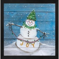 Snowman II Framed Wall Art