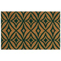 """Waverly Greetings """"Centro"""" Teal Doormat by Nourison (2' x 3') - 1'6 x 2'4"""