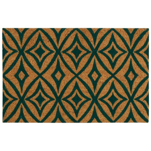 """Waverly Greetings """"Centro"""" Teal Doormat by Nourison (2' x 3')"""
