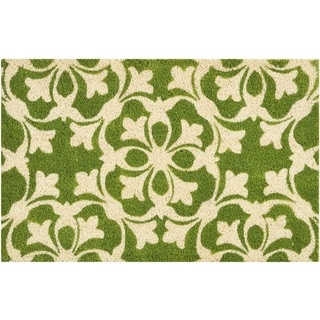 "Waverly Greetings ""Courtyard"" Green Doormat by Nourison (1'6 x 2'4)"