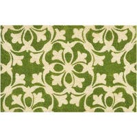 "Waverly Greetings ""Courtyard"" Green Doormat by Nourison (1'6 x 2'4) - 2' x 3'"