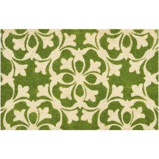 "Waverly Greetings ""Courtyard"" Green Doormat by Nourison (1'6 x 2'4)"