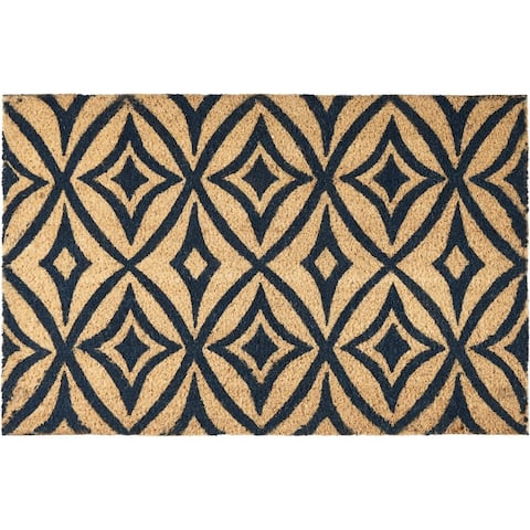 """Waverly Greetings """"Centro"""" Navy Doormat by Nourison (2' x 3')"""