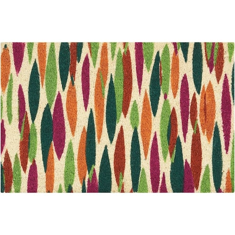 """Waverly Greetings """"Bits n' Pieces"""" Clay Doormat by Nourison (1'6 x 2'4)"""