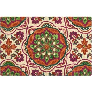 "Waverly Greetings ""Tapestry"" Clay Doormat by Nourison - 1'6 x 2'4"