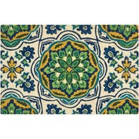 "Waverly  Greetings ""Tapestry"" Bluebell Doormat by Nourison (1'6 x 2'4)"