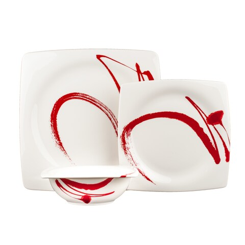 Red Vanilla Paint it Red 18 pc Dinnerware Set