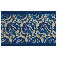 """Waverly Greetings """"Playful Prose"""" Navy Doormat by Nourison - 1'6 x 2'4"""