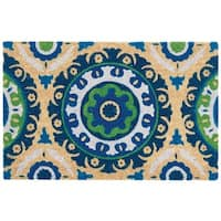 """Waverly Greetings """"Solar Flair"""" Navy Doormat by Nourison - 2' x 3'"""