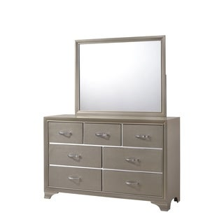 Logan Mirror Only in Champagne Finish - Ivory