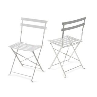 Jamesdar Cafe Powder-coated Steel Indoor/Outdoor Chairs (Set of 2)