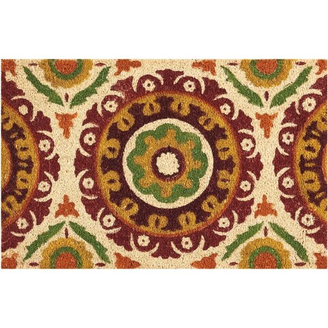 "Waverly Greetings ""Solar Flair"" Rust Doormat by Nourison - 1'6"" x 2'4"""
