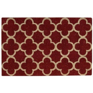 """Waverly Greetings """"Framework"""" Red Doormat by Nourison (1'6 x 2'4)"""