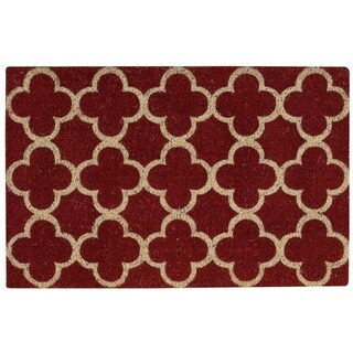 "Waverly Greetings ""Framework"" Red Doormat by Nourison (1'6 x 2'4) - 2' x 3'"